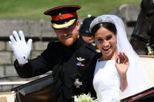It Looks Like Meghan Markle Spotted 1 Very Unexpected Face in the Royal Wedding Crowd