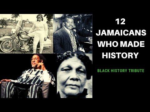 12 JAMAICANS WHO MADE INTERNATIONAL HISTORY