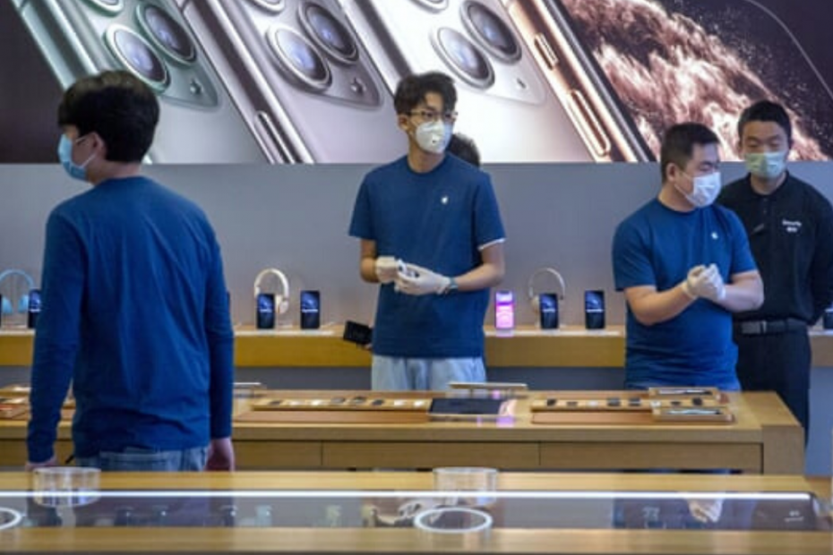 Coronavirus Infections Slow in China as Apple Warns of Iphone Shortages
