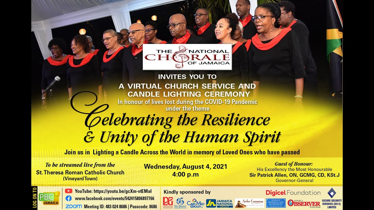 National Chorale of Jamaica – Virtual Church Service and Candle Light Service